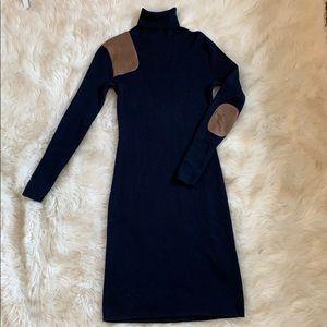 Ralph Lauren Merino Wool Patch Elbow Sweater Dress